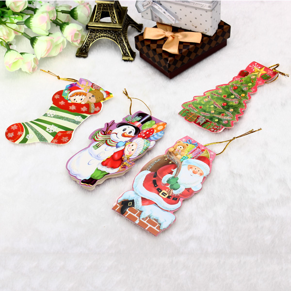 Mini Gift Card With Hang Strap Christmas Tree DIY Accessories Gift Tag