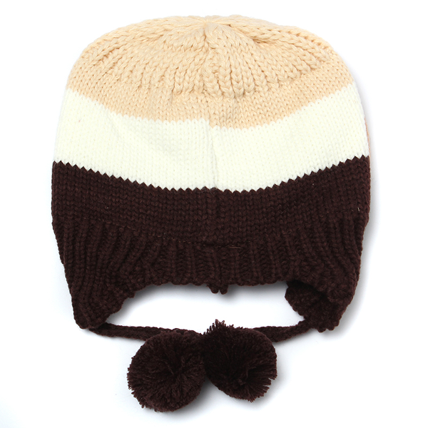Baby Children Dog Cartoon knitted Cap Ear Flap Beanie Hat