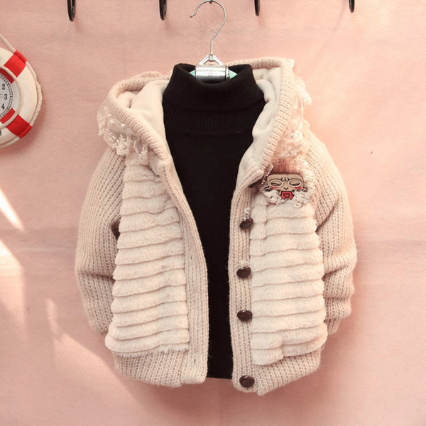 48176d938 baby children girls soft pullover cotton sweater cardigan coat at ...