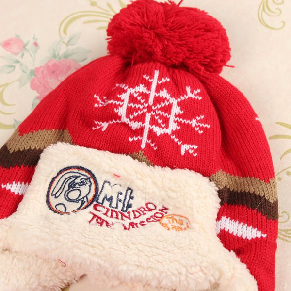 Baby Children Christmas Snow Pattern Knitted Hat Scarf Set