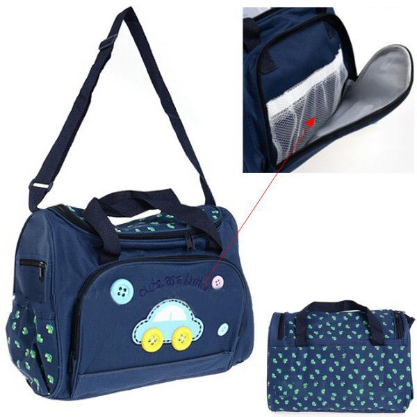 Car Pattern Baby Care Diaper Nappy Mummy Bag Baby Diapers Bags Storage Handbag