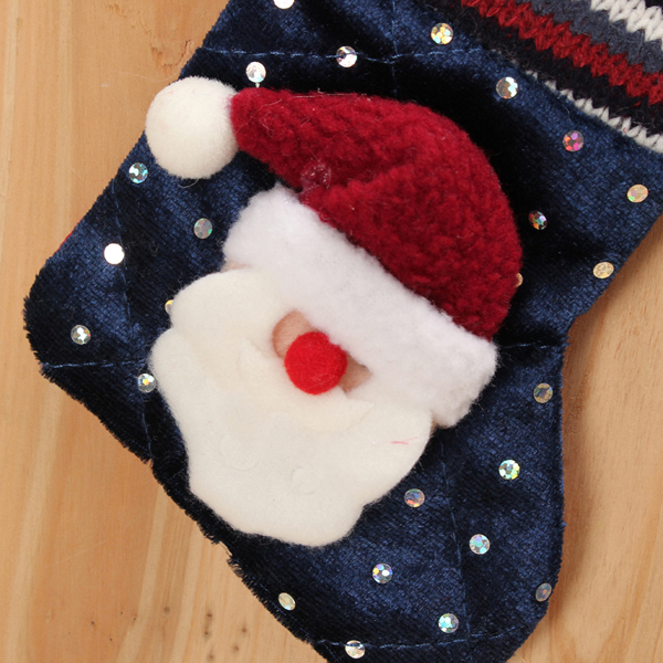 Baby Children Christmas Tree Decoration Stocking Knitted Socks