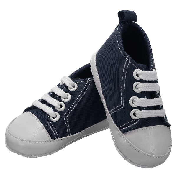 Baby Toddler Canvas Shoes Soft Sole Crib Walk Sneakers