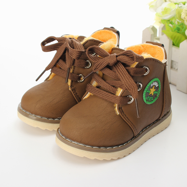 Baby Children Martin Boots Winter Cotton Snow Shoes