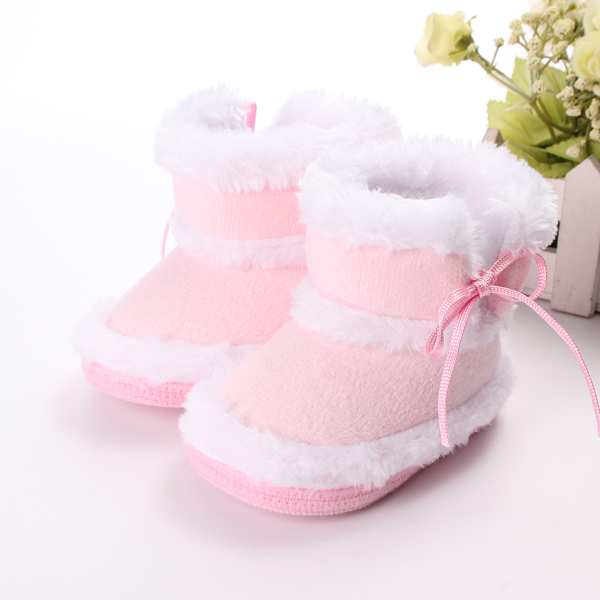 Toddler Baby Rabbit Shoes Cotton Flanging Leopard Velvet Boots
