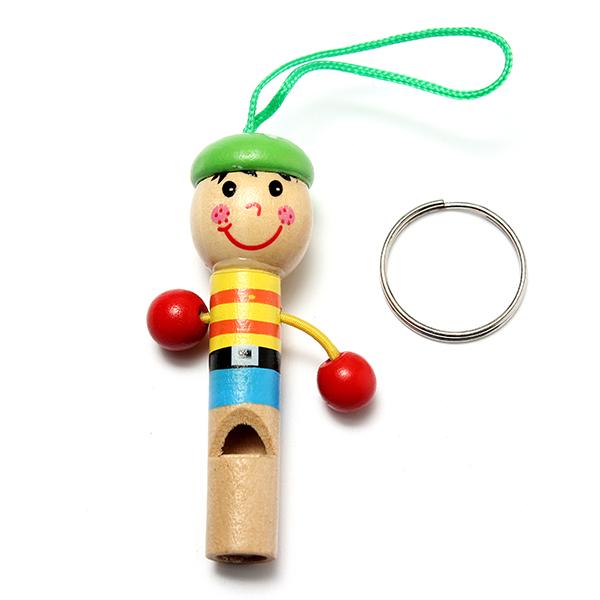 Baby Children Wooden Mini Pirates Developmental Musical Whistle Toy
