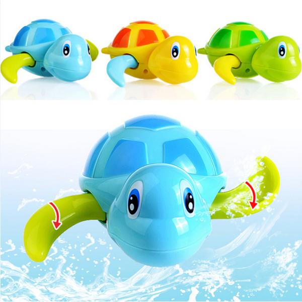 Children Bath Turtle Toys Cartoon Swimming Chain Clockw