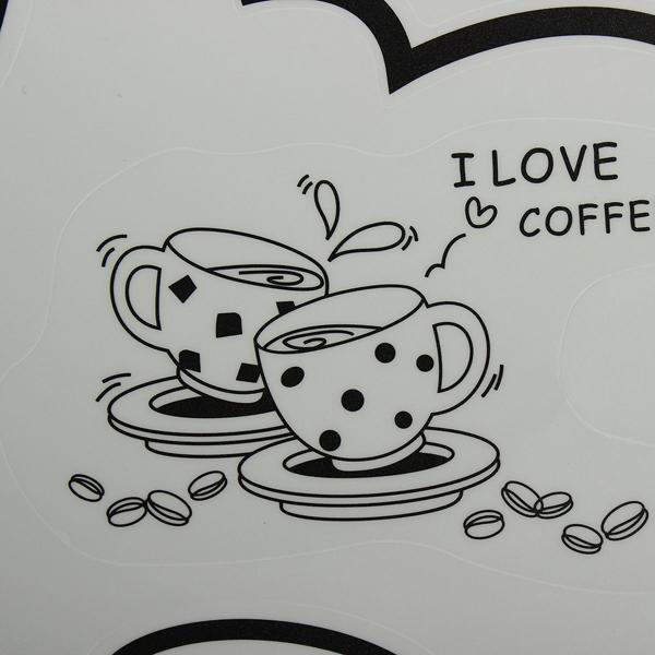 Coffee Restaurant Wall Sticker 3D Home Decration Art Wallpaper