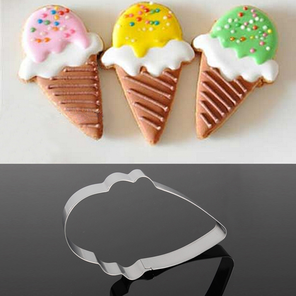 Stainless Steel Ice Cream Shape Biscuit Cookie Cutter D