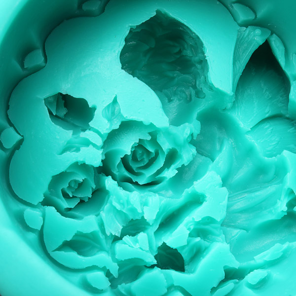 3D Baby Angel Rose Flower Cake Mold Silicone Fondant Soap Mould