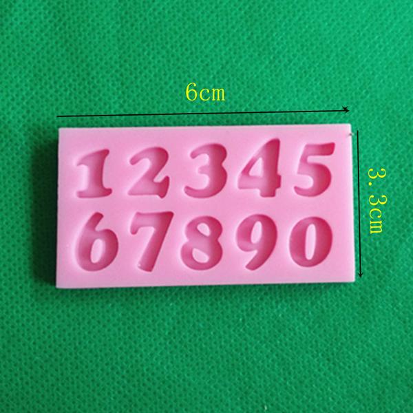 Honana 3Pcs Letters & Numbers Fondant Cake Molds Soap Chocolate Mold