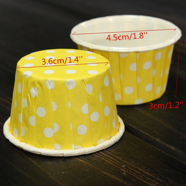 100 PCS Paper Cup Cake Liner Muffin Paper Case Greaseproof Baking Cups