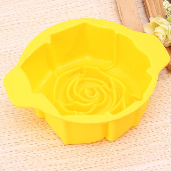 Rose Shape Silicone Cake Pan Mold Baking Mould