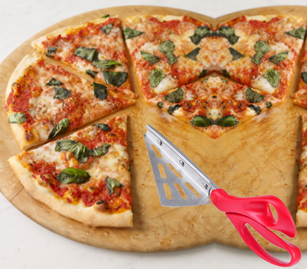 Stainless Steel Pizza Scissors Shovel 27CM