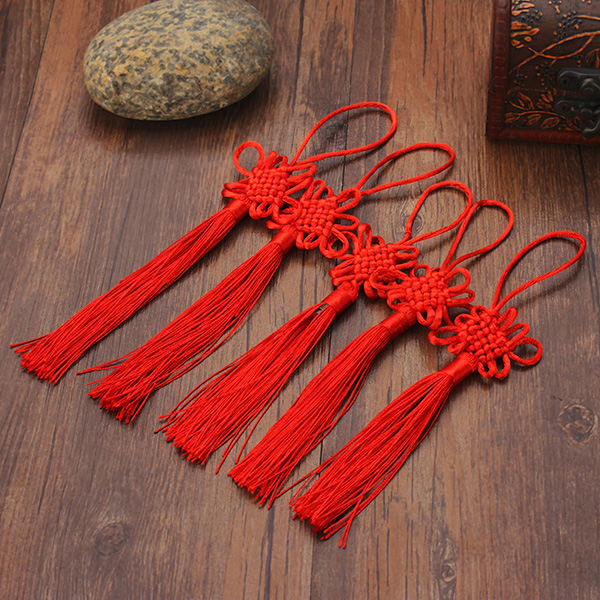 10Pcs Red Hand Knit Chinese knot Gift Celebration Suppl