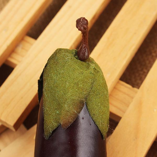 5Pcs Artificial Foam Eggplant Imitation Vegetables Home Learning Decorating Props
