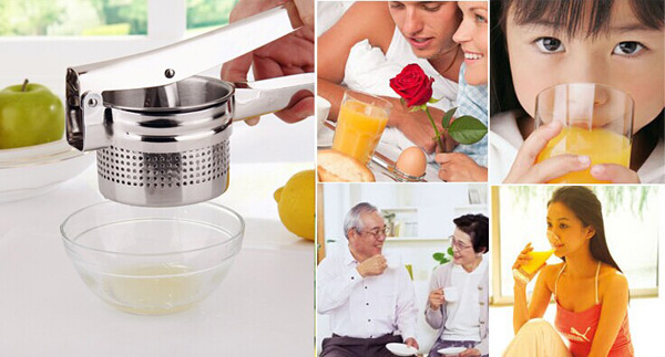 Stainless Steel Potato Ricer Manual Juicer Vegetable Garlic Fruit Lemon Orange Squeezer