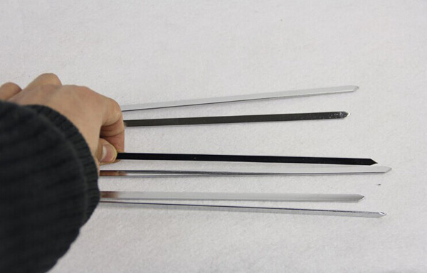 33CM Stainless Steel Barbecue Grill Needles Flat BBQ Needles