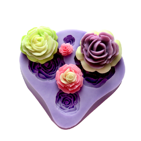 4 Different Sizes Roses Fondant Cake Decorating Mold
