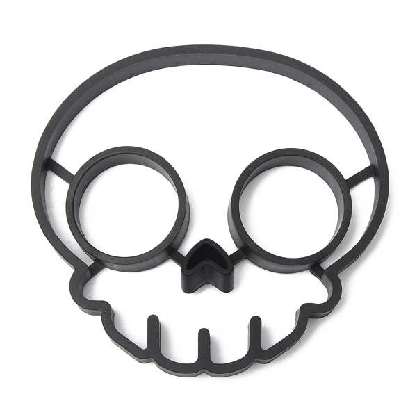 Silicone Skull Egg Frying Mold Breakfast Pan Cake Mould Kitchen Cooking Tool