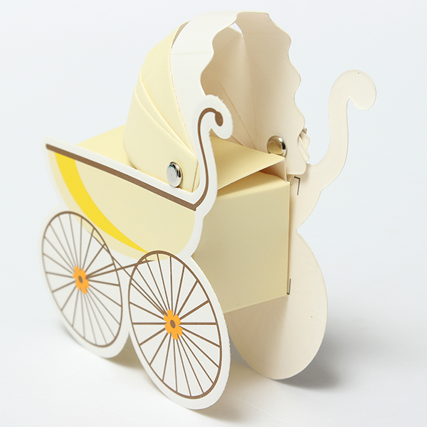 10Pcs Baby Stroller Shape Gift Box Wedding Baby Shower Party Favor Decoration Gift Boxes