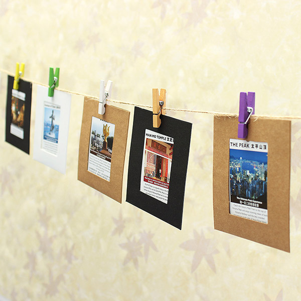 10Pcs Paper Photo Frame Album Hanging Line Gallery Rope Camp