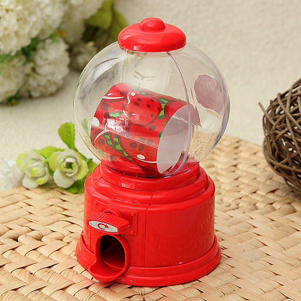 Mini Candy Machine Chocolate Coin Piggy Bank Storage Jar Kids Gift Toy