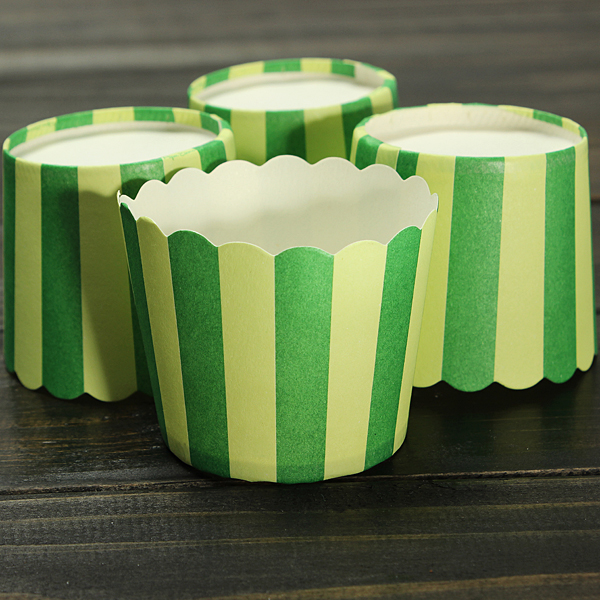 50pcs Cup Cake Baking Paper Stripe Muffin Cup Home Wedding Party