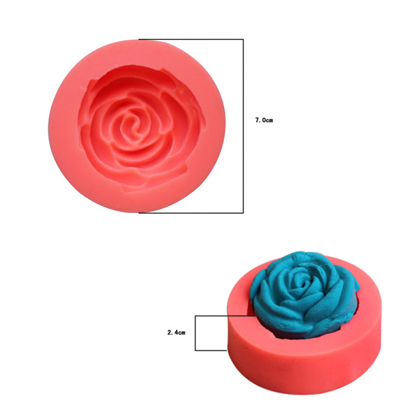 3D Rose Silicone Fondant Cake Mold Chocolate Clay Soap Mould Baking Cake Decorating Tool