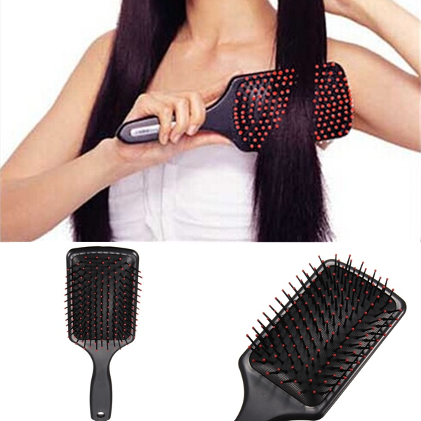 Black Flat Comb Hairdressing Hair Care Massage Hairbrush