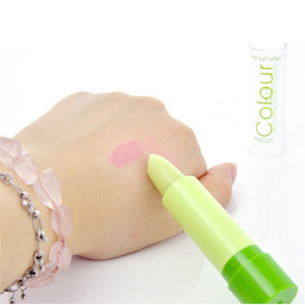 Magic Green Color Changing Lip Makeup Long Lasting Lipstick Cosmetic