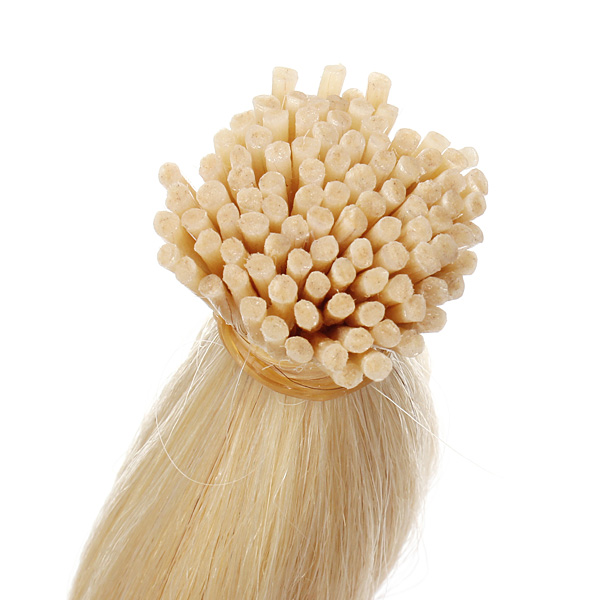 100PCS Light Blonde Straight Stick I-Tip Human Hair Pieces Extension