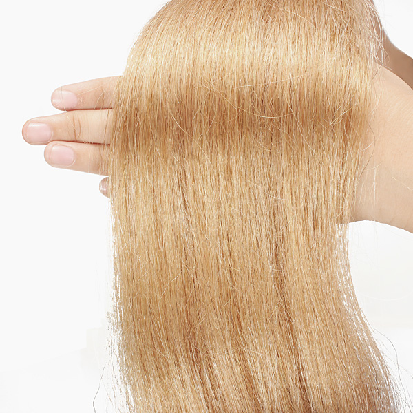 100PCS Honey Blonde Straight Stick I-Tip Human Hair Pieces Extension