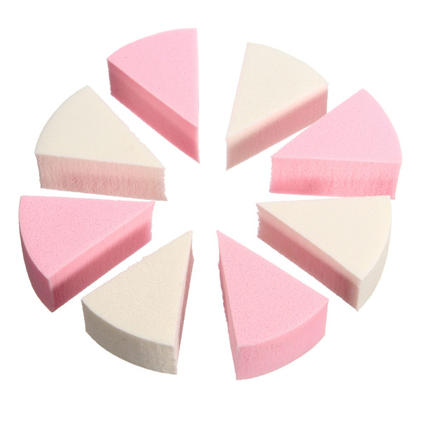 8 Pcs Facial Cleaning Make Up Squishy Soft Sponge Face Foundation Powder Puff