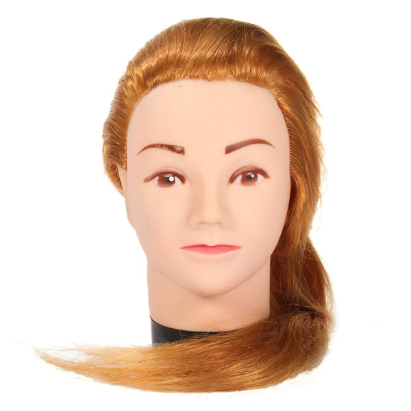 Long Hair Practice Clamp Hairdressing Training Blonde Mannequins Head