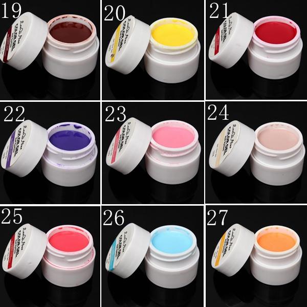 36 Pure Colors 5ml UV Gel Builder Nail Art DIY Decoration Manicure