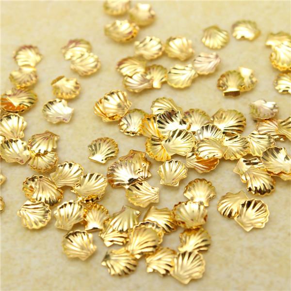 100 Pcs DIY Nail Art Manicure Alloy Shell Decoration Studs Beads