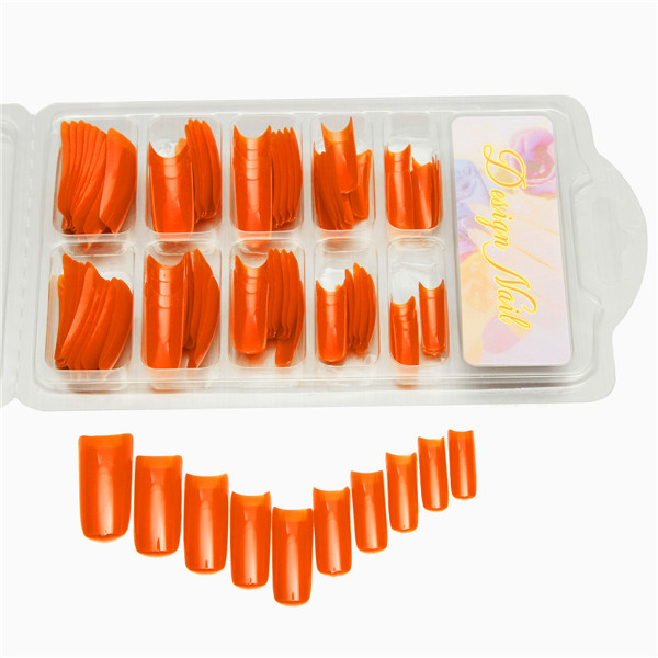 100 Pcs UV Gel False Nail Art Salon Polish French Acrylic Half Nail Tips