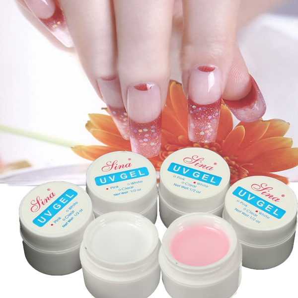 3Pcs Pink White Nail Art UV Gel Builder Manicure Extension