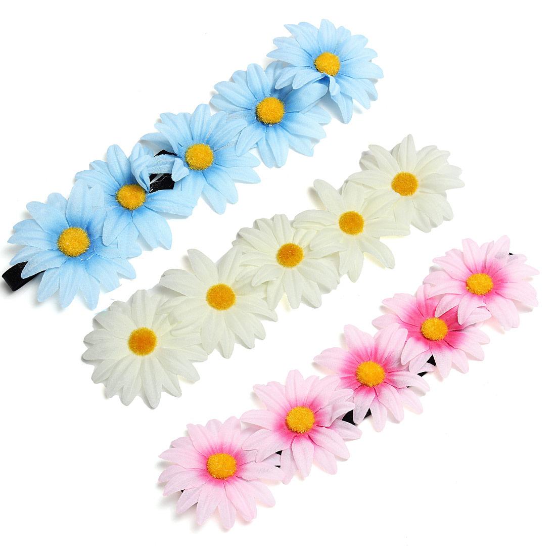 Boho Style Daisy Flower Floral Hair Garland Headbrand Hair Band
