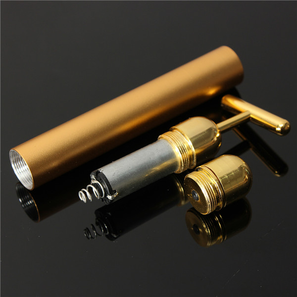 Beauty Bar 24K Golden Pulse Electric Facial Massager T-Shape Anti-wrinkle Vibration Face Massage Tools Tighten