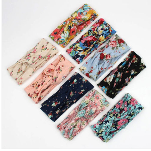 Women Flower Twist Knotted Yoga Sport Head Wrap Hair Band Accessories Headbrand