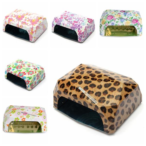 36W 100~240V Leopard Flower Manicure Timer LED Lamp Curing Nail Art UV Gel Dryer