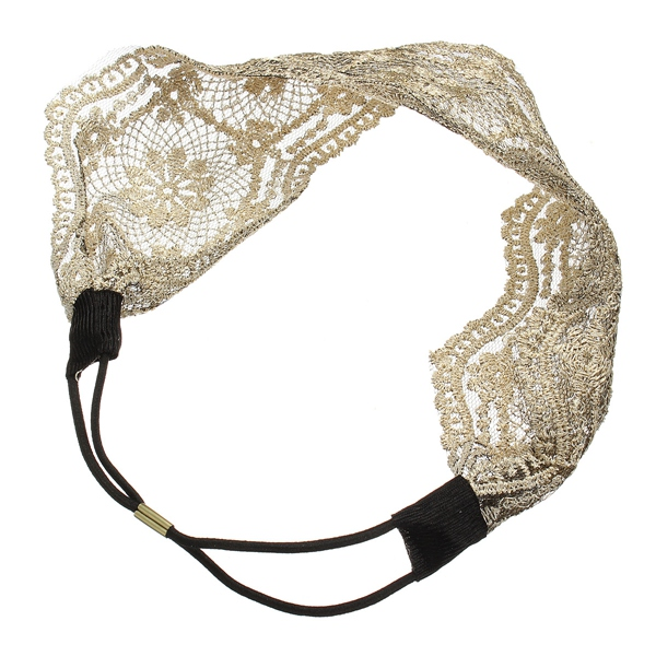 Wide Hollow Flower Headbrand Lace Hair Band Accessories