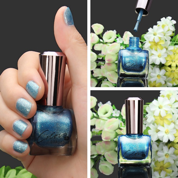 12ML Metal Color Blue Nail Art Varnish Polish Nail Enam