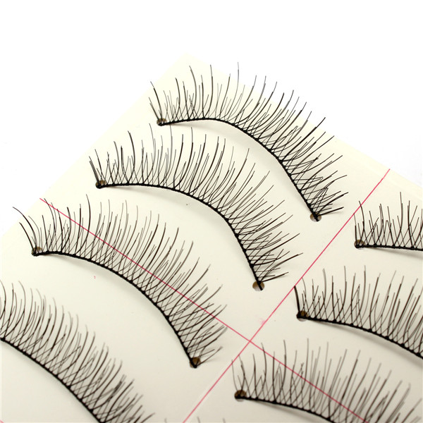10 Pairs Black Handmade False Eyelashes Cluster Natural Long Eyelashes
