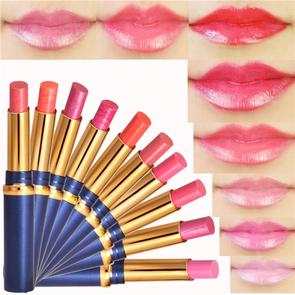 HengFang 10 Colors Lipstick Moist Waterproof Long Lasting Lip Makeup