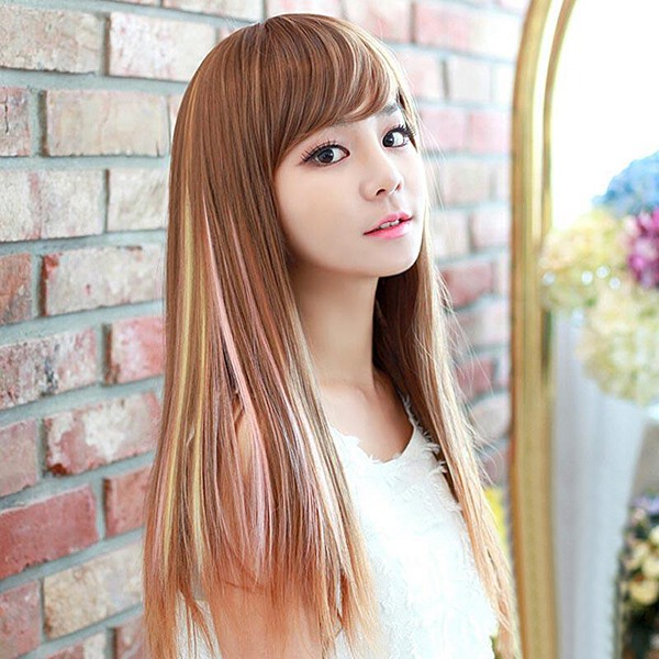 NAWOMI 1Pcs Clip In Heat Friendly Resistant Synthetic Hair Extension Hair Piece Smoke Ombre