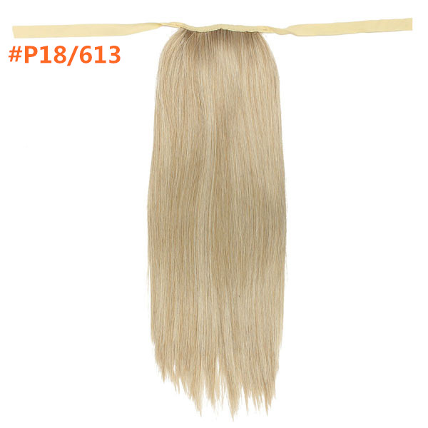 Wrap Around Pony Tail Hair Extension Clip In Long Straight Ponytail