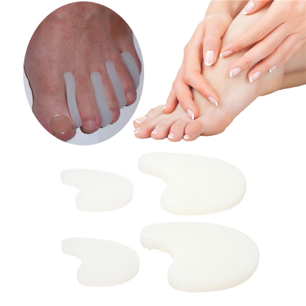 1 Pair of Soft Silicone Squishies Squishy Gel Toe Separator Pads Foot Protector Relif Pain Belt